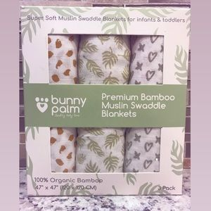 BRAND NEW Bamboo Muslin Swaddle Blankets